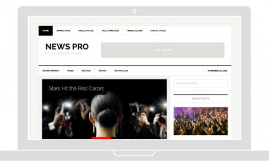 WordPress Newspaper or Blog Theme