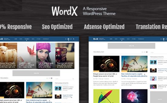 WordX WordPress Google AdSense Theme
