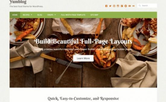 Yumblog Food Focused WordPress Theme
