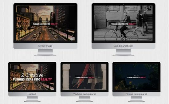 Z One Pager WordPress Parallax Effects Template