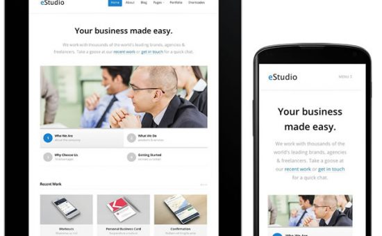 eStudio Responsive WordPress Businesses Theme